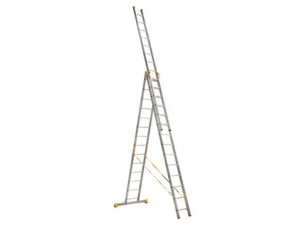 Алюминиевая трехсекционная лестница Алюмет 9314