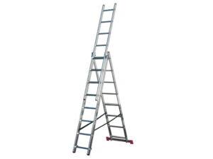 Лестница алюминиевая раздвижная Krause Corda 3x8 010384