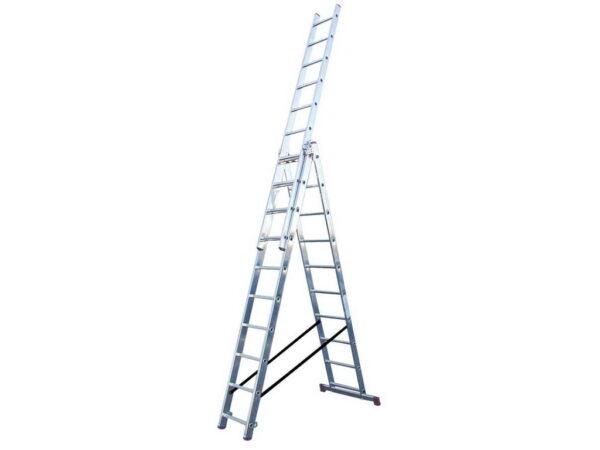 Выдвижная лестница алюминиевая Krause Corda 3x10 010407