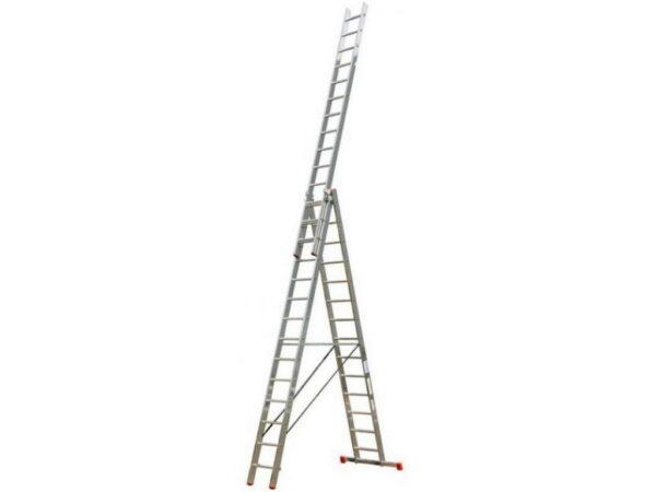 Лестница раздвижная алюминиевая трехсекционная Krause TRIBILO 3х14 120960