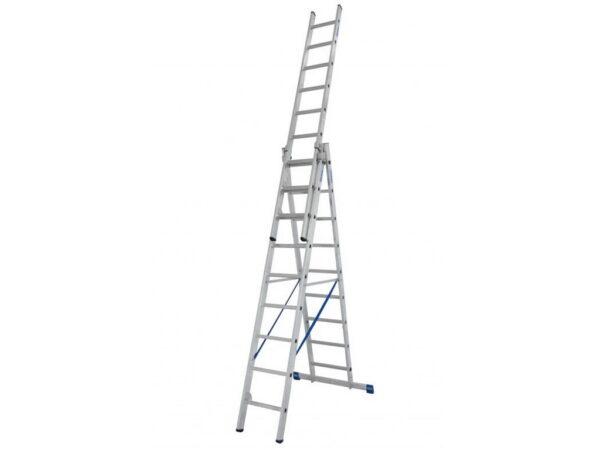 Лестница раздвижная трехсекционная Krause STABILO 3х9 133755