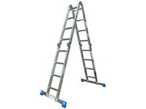 Алюминиевая профессиональная шарнирная лестница Krause STABILO 4х4 123527