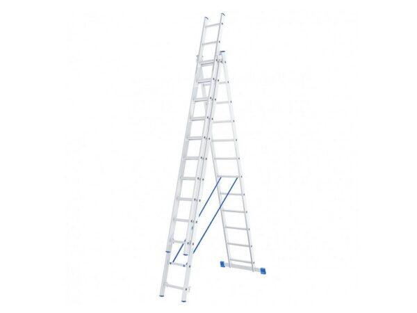 Лестница трехсекционная алюминиевая Сибртех 97822 3x12