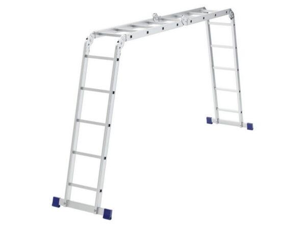 Лестница шарнирная алюминиевая Сибртех 2x4 + 2x5 97884